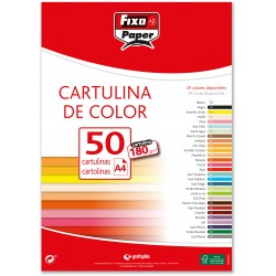 Fixo Cartulina A4 180gr. Amarillo