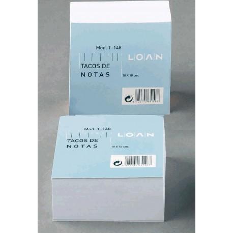 Loan T148 Taco de Notas Encolado Blanco