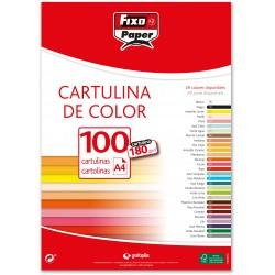 Cartulina A4 180gr. Blanca 100u