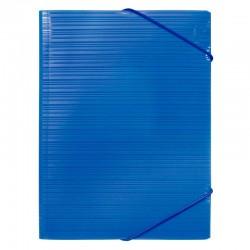 Milan Carpeta PP A4 con gomas y solapas Azul