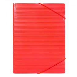Milan Carpeta PP A4 con gomas y solapas Roja
