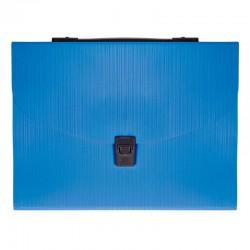 Milan Carpeta Fuelle A4 con broche y asa 13D Azul