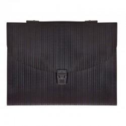 Milan Carpeta Fuelle A4 con broche y asa 13D Negra