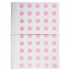 Milan Carpeta Fuelle A4 con goma 13D Blanco/Rosa