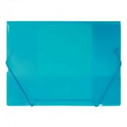 Milan Carpeta Fuelle A4 Fibra Carbono Goma 12D Azul