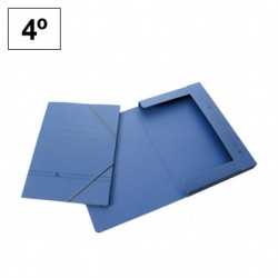 MKP Carpeta Carton Cuarto Azul Gomas y Solapa