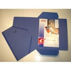 Saro Carpeta Carton Cuarto M.1012 Solapas Elastico Azul