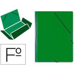 Saro Carpeta Carton A4 Solapas con elastico Verde