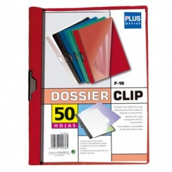 Plus Office Dossier A4 Pinza Metal F-18 30h Rojo