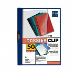 Plus Office Dossier A4 Pinza Metal F-18 50h Azul