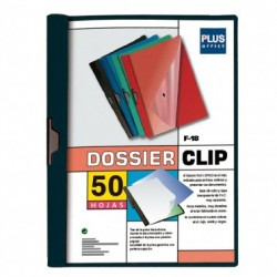 Plus Office Dossier A4 Pinza Metal F-18 50h Negro