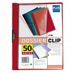 Plus Office Dossier A4 Pinza Metal F-18 50h Rojo