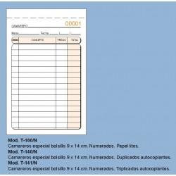 Loan T141N Talonario Camareros Bolsillo Triplicado Numerado