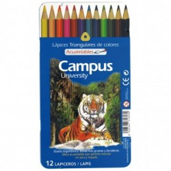 Campus Lapices Acuarelables 12 colores