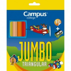 Campus Lapices Jumbo Triangular 10 colores