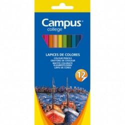 Campus Lapices Triangulares 12 colores