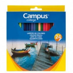 Campus Lapices Triangulares 24 colores