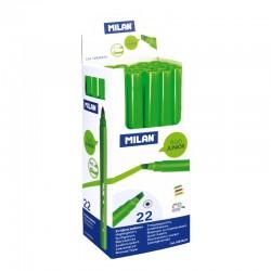 Milan Rotulador Fluo. Junior Verde