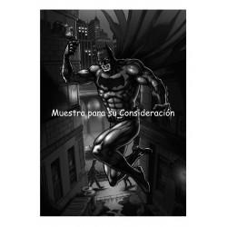 Javier Tejera Lamina A4 Batman Blanco y Negro