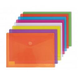 Ecoplas Funda con velcro Folio PP colores surtidos