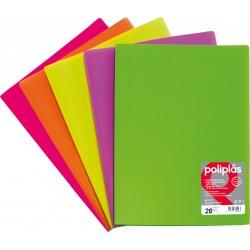 Fluorgraf Carpeta Fundas Poliplas Folio 40F colores surtidos