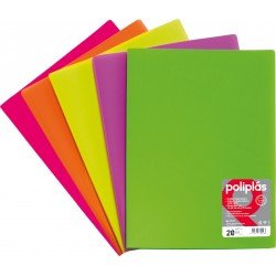 Fluorgraf Carpeta Fundas Poliplas Folio 50F colores surtidos