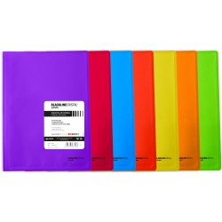 BlackLine Carpeta PP Folio solapas y gomas colores surtidos