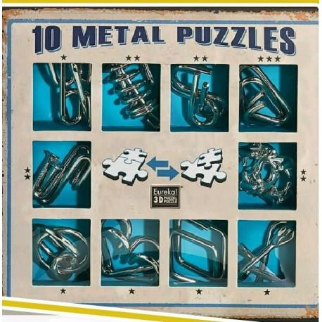Eureka 473356 Puzzle Metal 3D Set 10 Unidades
