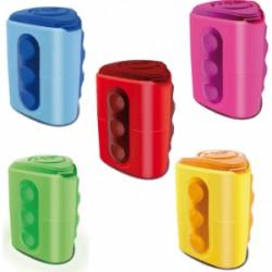 Lyra Afilador Plastico Lyra Groove con deposito 2 bocas