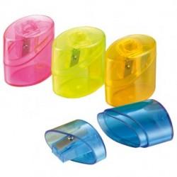 Campus Afilador Plastico Fluor 1 boca con deposito