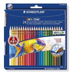 Staedtler Lapices Noris Acuarelables 24 colores + pincel (144 10NC24)