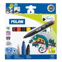 Milan Rotuladores Magicos 8 colores + 2 Magicos