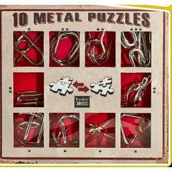 Eureka 473358 Set Puzzles Metal 3D 10 Unidades