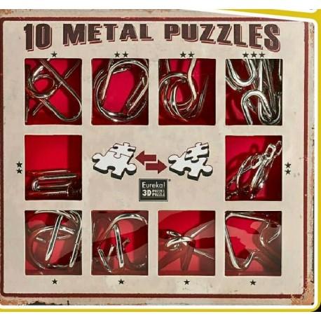 Eureka 473358 Puzzle Metal 3D Set 10 Unidades