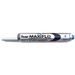 Pentel Rotulador Pizarra Blanca Maxiflo Punta Fina Azul