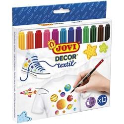 Jovi Rotuladores Textil 12 colores