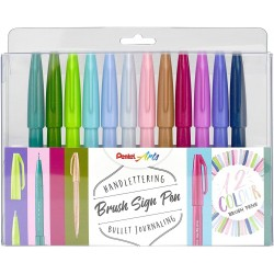 Pentel Pack 12 Rotuladores SES15 colores Pastel