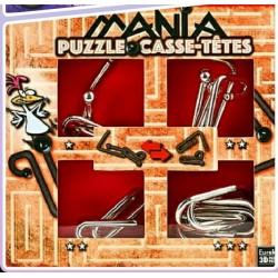 Eureka 473202 Set Puzzles Metal 3D 4 Unidades