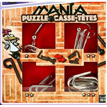 Eureka 473202 Puzzle Metal 3D Set 4 Unidades