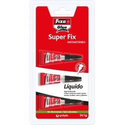 Fixo Pegamento Instantaneo Liquido SuperFix 3x1gr.