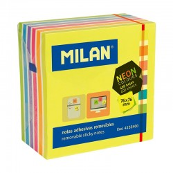 Milan Notas Adhesivas 76x76mm colores surtidos 400h