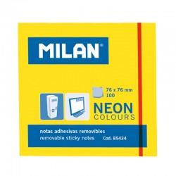Milan Notas Adhesivas 76x76mm 100h Amarillas