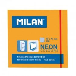 Milan Notas Adhesivas 76x76mm 100h Naranja