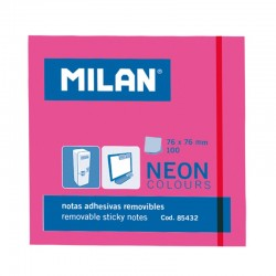 Milan Notas Adhesivas 76x76mm 100h Rosa