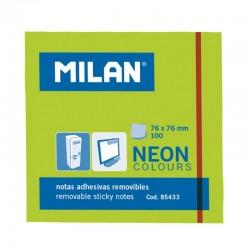 Milan Notas Adhesivas 76x76mm 100h Verde