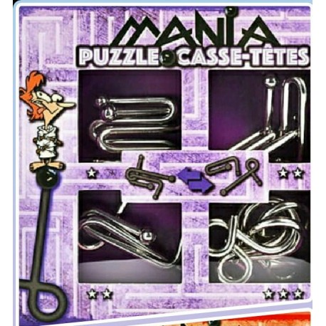 Eureka 473204 Puzzle Metal 3D Set 4 Unidades