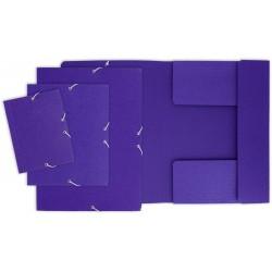 Grafoplas Carpeta Carton Folio Grafo solapas elastico Azul
